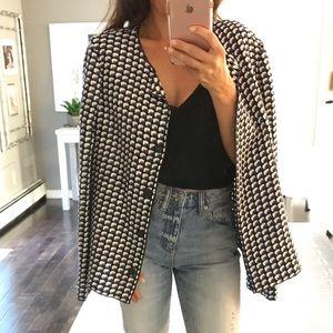 Armani Collezioni blue whit black checkered blazer